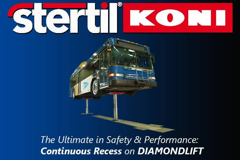 Continuous Recess on DIAMONDLIFT, inground lifts, Stertil-Koni, bus lifts, truck lifts, inground piston lift, scissor lift, platform lifts