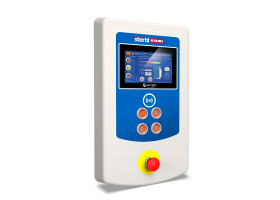 Stertil-Koni Heavy Duty Mobile Column Lift touchscreen control