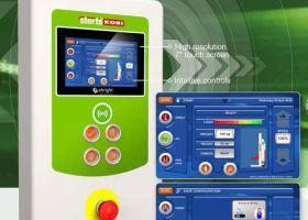 eBright touchscreen control for Stertil-Koni Heavy Duty Mobile Column Lifts