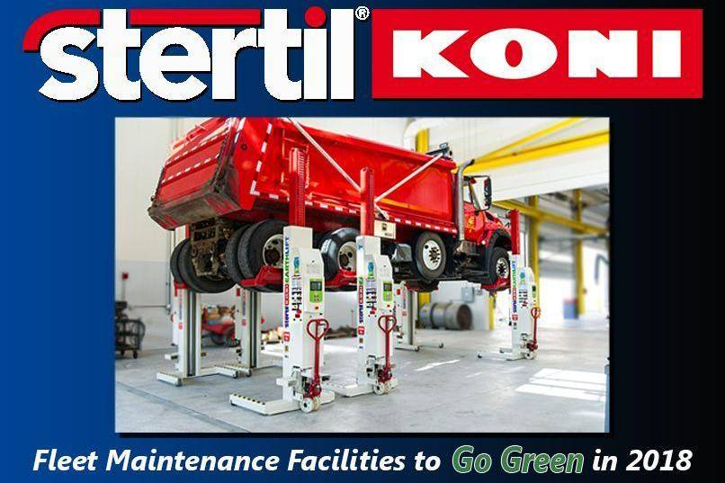 Go Green in 2018, mobile column lifts, portable lifts, Stertil-Koni, vehicle lifts, platform lifts, inground piston lift, bus lifts, truck lifts