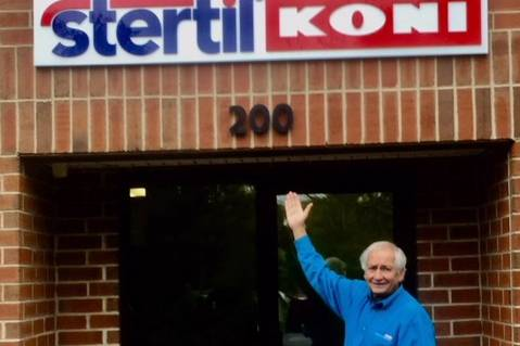 President Stertil-Koni USA Dr. Jean DellAmore with new bright sign