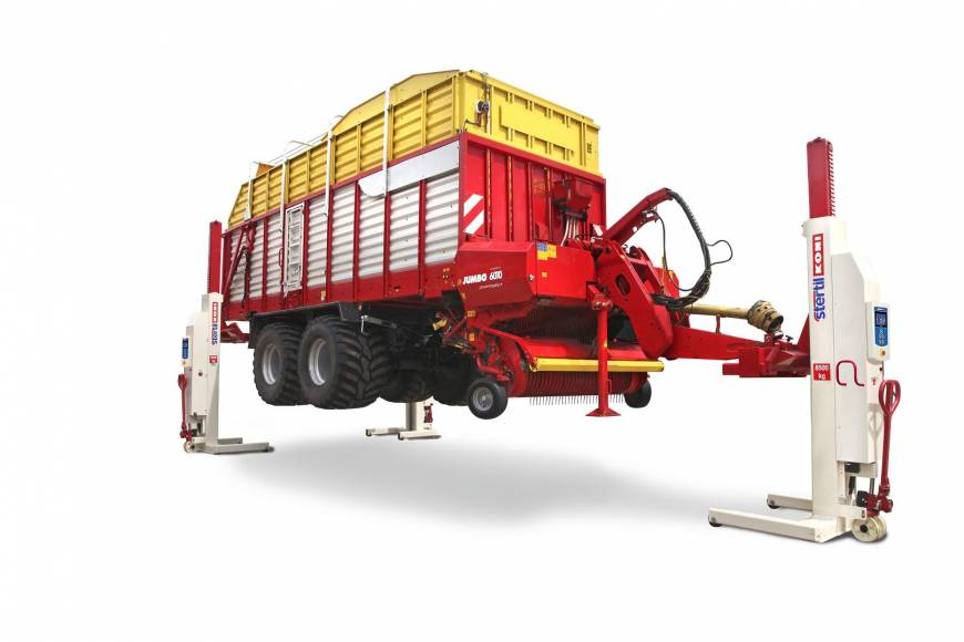 Agricultural multipurpose adapter, Stertil-Koni, mobile column lifts