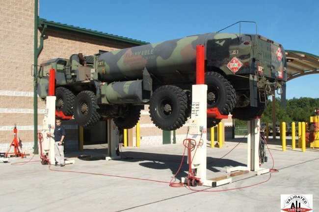 MILITARY MOBILE COLUMN LIFT