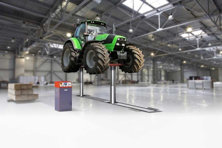 Agriculture Tractor Lift - Heavy Duty Vehicle Lift Inground Piston DIAMONDLIFT