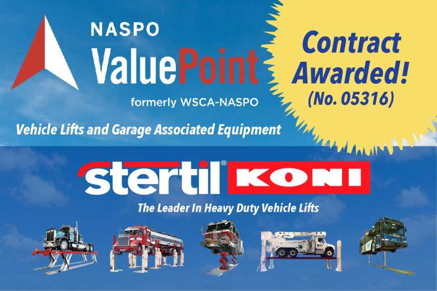 NASPO ValuePoint Contract Awarded to Stertil-Koni