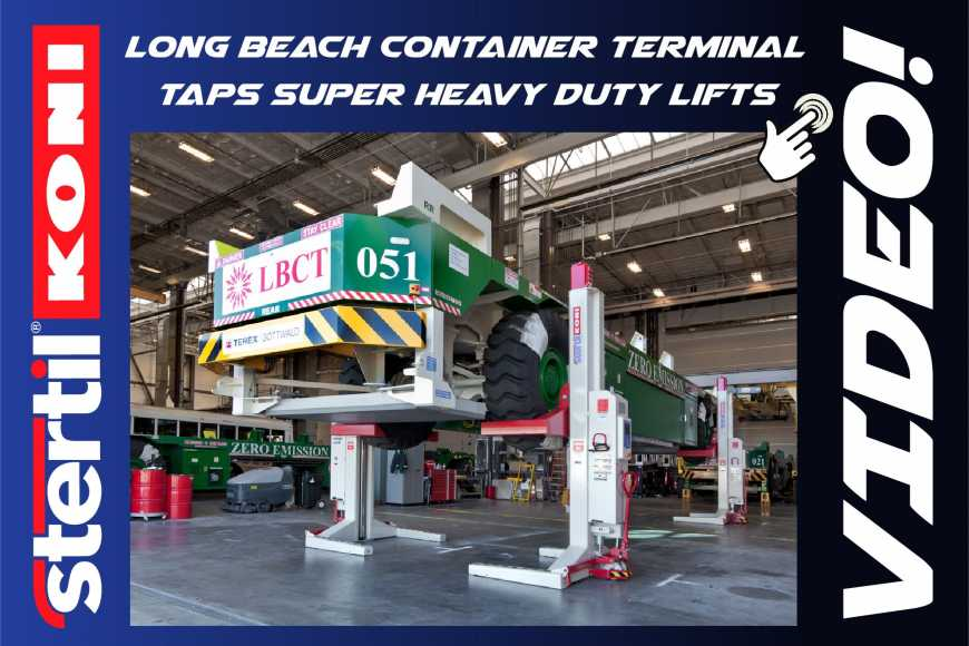 Long Beach Container Terminal, mobile column lifts, portable lifts, video