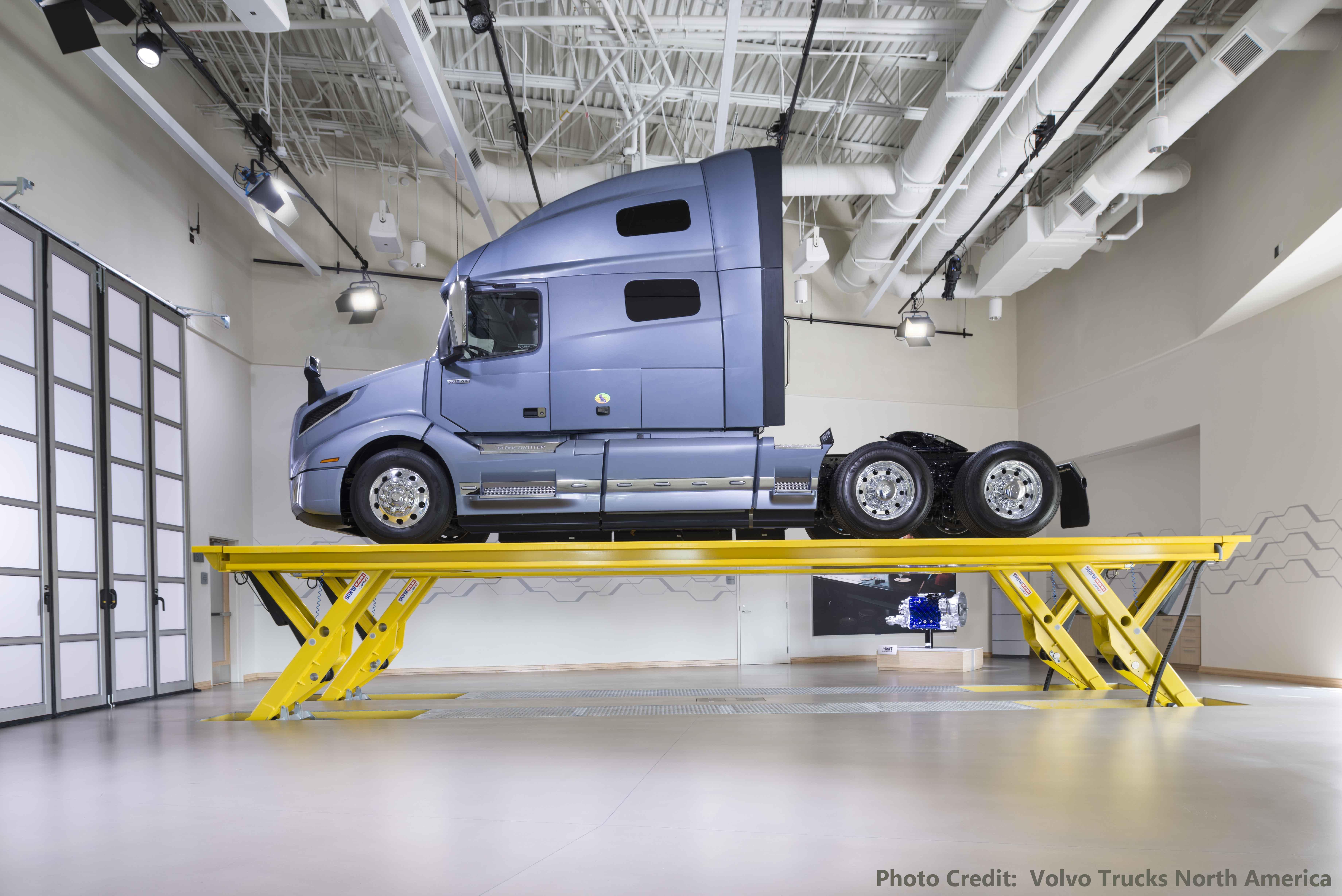 new volvo trucks customer center features skylift | stertil-koni usa